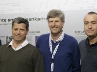 Jörge Salkeld, Vice-President Oktagon, Herbert Günther, KSC-Präsident, David Serrahima , Octagon