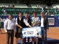 Preisgeld  für Sieger Robin Haase
