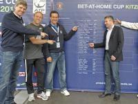 V. links: KTC-Präsident Herbert Günther, Stefan Koubek , Alex Antonitsch, Claus Reschitzeder; Foto: GEPA