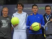 v.l. Stefan Koubek, Robin Haase (NED), Dominic Thiem (AUT) und Turnierdirektor Alex Antonitsch; Foto: GEPA