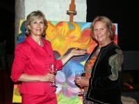 Dr. Barbara Planer (Stadträtin Kitzbühel) und Rima Wurzenrainer (Malerin); Foto: Pipal