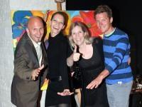 Christian Rijavec (Extremsportler), Iris Dahan, Elfi Dahan (Clubwear), David Kreiner (Olympia/WM-Gold); Foto: Pipal
