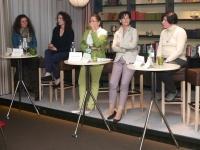 v.l.: Susanne Wunderer, Ingrid Felipe, Christine Baur, Andrea Haselwanter, Ingrid Tschugg, Moderation: Johanna Egger