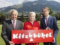 (v.li.) Dr. Josef Burger, Signe Reisch und Gerhard Walter; Foto: Kitzbühel Tourismus / Mühlanger