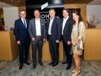 v.l. NR Lettenbichler, CEO Pletzer, NR Sigi Egger, WB Bez.Obm.Seiwald, WB Sekr. Huber Bild R.D.Lehner